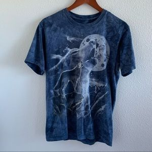 The Mountain Wolf Tee Blue Small